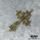 十字架 63.41mm クロス  Cross 金属製 ゴールドカラー 商品番号C-0007