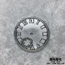 【4点セット】時計ダイヤル風素材 直径44mm 文字板 金属製パーツ 商品番号T-0003