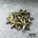【5点セット】五芒星風ペンダント素材 22.6mm x 18mm 金属製ハンドメイド素材 商品番号S-0051