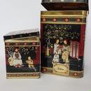 1960's イギリス製 シノワズリーヴィンテージ缶・紅茶、コーヒー入れ(大小2つセット)  BD011