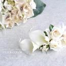 カラーとバラのブートニア・コサージュ【No.WB−009-1】