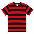 United Athle ボーダーTシャツ ブラック/レッド