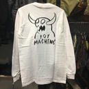 (トイマシーン)toy machine モンスターロゴ 長袖 ロンTシャツ (TMF18LT5-WH)