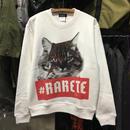 (ラルテ)RARETE 猫 デビットボウイ スウェット・トレーナー (裏パイル)(SPEND/RUDE/スペンド/ルード風)