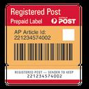 【配送:グレードアップ】追跡付き(日本国内)-REGISTERED国際普通郵便