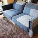 California 50's patchwork denim sofa 3p