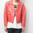 ライダース オレンジ レザージャケット Vintage Leather Jacket