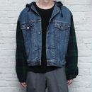 90s Gap Denim Jacket With Hoodie