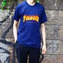 ビンテージ スラッシャーマガジンTシャツ ファイヤーパターン Thrasher Magazine