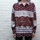 レーヨン総柄シャツ Rayon L/S Shirt