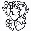 影絵シリーズ【挿絵のいちご(縦型)】6cm版