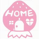 ロゴマークシリーズ【いちごのお家】12cm版