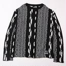 MIMICRY -Knit Sweater- / BLACK-WHITE