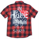 BANDANA SHIRT S/S -Inhale the black- / RED
