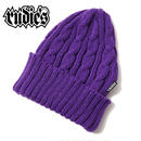 WASTE CABLE KNITCAP / PURPLE