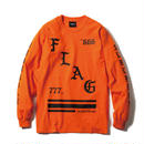 -FLAG- LS Tee / ORANGE