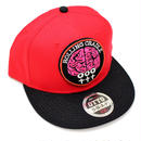 BRAIN PATCH CAP / Red-Black