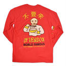 DON'T COME  ×  TEN BOX  ×  L/S 長袖T RED【PIGU HOUSE OSAKA 限定アイテム】