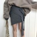 アシメリボンニットスカート