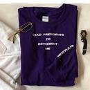 Lyric long sleeve T- shirt/purple