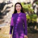 【10%OFF】翠苑 桜刺繍 レディースリネンウェア上下セット 小紫色