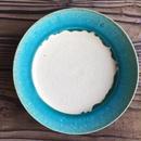 やちむん ペルシャ釉リム皿(7寸)/宮城正幸
