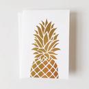ハワイ BRADLEY & LILY パイナップル ゴールドエンボスプリント グリーティングカード/メッセージカード 6枚セット