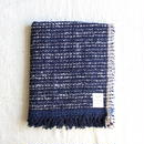 Gara-bou Medium Stole 50×190cm (Indigo Pin Border)