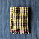 Gara-bou Blanket Stole Kabe 100×190cm (Lime Check)