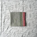 #100 Khadi Panel Plaid Bandana (Green)