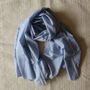 #100 Khadi Stripe Big Stole 115×185 (Blue)