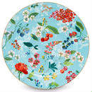 Floral under plate  Blue