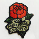ワッペン One red rose forever