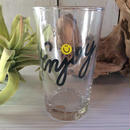 "【 palm graphics glass 】   ""enjoy""        250ml"