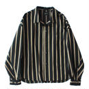 Big shirt jacket - Tencel stripe / Black