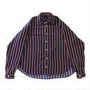 Big regular shirt - Regimental stripes / Navy x Red