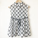 sleeveless gathered peplum blouse / 03-7308003