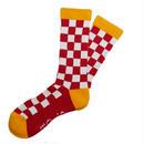 Checker Socks RED