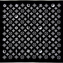 """FRENEMY"" Symbols Vuitton Bandana BLK"