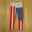 【monomania】アメリカ国旗柄レギンス/星条旗柄赤青メンズレディース新品