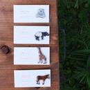 手描き動物の小さいブローチ