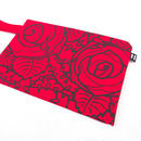 "KW's ""ROSE"" Clutch Bag / Red"