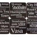 コースター6枚セット スウェーデン語で観光名所