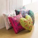 SALE インドな サテンハートクッション Satin Heart cushion