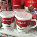 キャンベル フタ付 スープカップ Campbell Soup