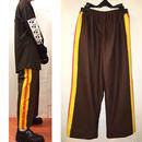 帆布 paint line pants/brown