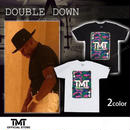 【THE MONEY TEAM】DOUBLE DOWN トランプ柄 White T-Shirt