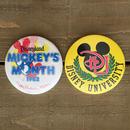 Disney Vintage Pin Button/ディズニー ビンテージ 缶バッジ/170213-3
