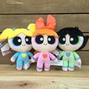 POWERPUFF GIRLS  Pajama Blossom,Bubbles&Buttercup Plush Set/パワーパフガールズ パジャマガールズ ぬいぐるみセット/170530-12