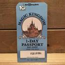 Disney Magic Kingdum 1Day Passport 1982.Feb.1/ディズニー マジックキングダム 1デーパスポート 1982年2月16日/190209-2